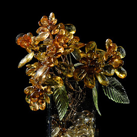 Glass Flowers & Vase by Rakesh Syal - Artistic Objects Glass