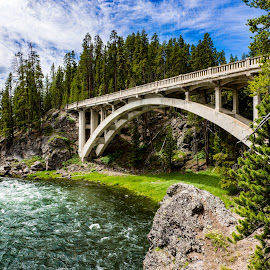 by Gregory Gengo - Buildings & Architecture Bridges & Suspended Structures ( yellowstone, nature, bridge, architecture )