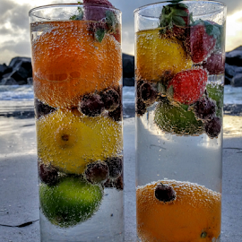 { Tropical fruits on the beach }  by Jeffrey Lee - Food & Drink Fruits & Vegetables ( { tropical fruits on the beach } )