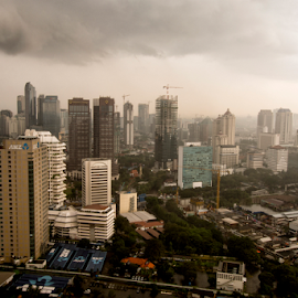 My City After Rain by Marcelino Moningka - City,  Street & Park  Neighborhoods ( building, neighborhood, jakarta, cityscape, city )