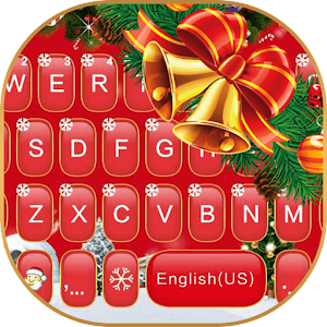 Red Christmas Keyboard Theme For PC