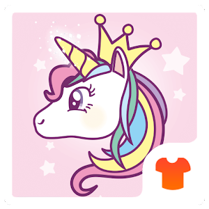 Cute Theme - Lovely Unicorn For PC