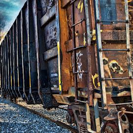 wrong side of the tracks by Angela Everett - Transportation Trains ( nashville, tennessee, train, train cars, transportation )