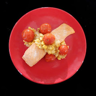 Seared Salmon with Corn Relish