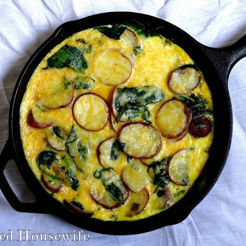 Red Potato and Spinach Frittata