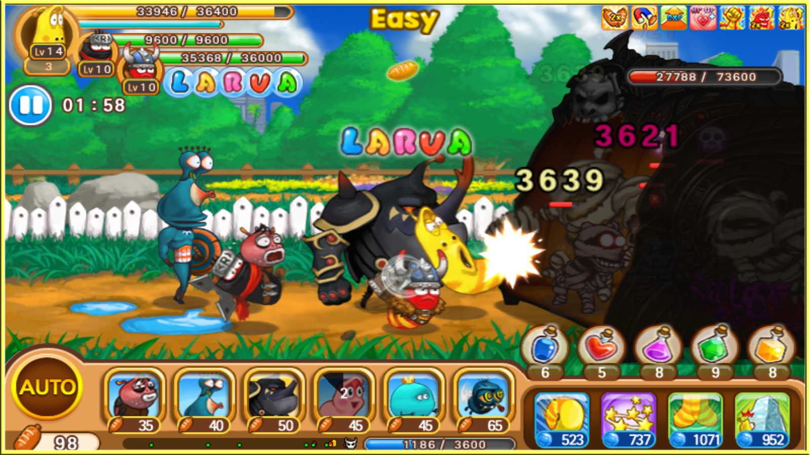 Larva Heroes : PVP Online Screenshot 14