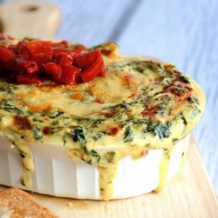 Roasted Garlic Spinach & Artichoke Dip with Garlic Pita Chips Recipe ...