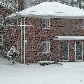 Homes during snowfall by Govindarajan Raghavan - Buildings & Architecture Homes