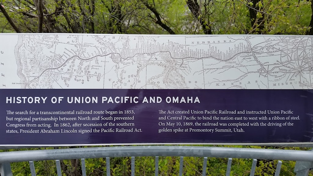 HISTORY OF UNION PACIFIC AND OMAHA The search for a transcontinental railroad route began in 1853, but regional partisanship between North and South prevented Congress from acting. In 1862, after ...