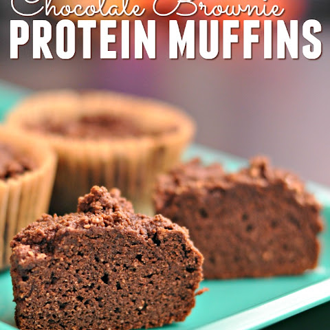 Chocolate Brownie Protein Muffins with VEGA Clean Protein