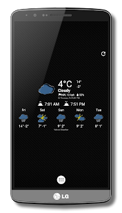 Fiber Weather Icons-Chronus - screenshot