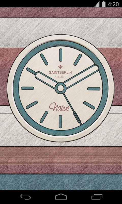 Native Clock Widget Screenshot 1