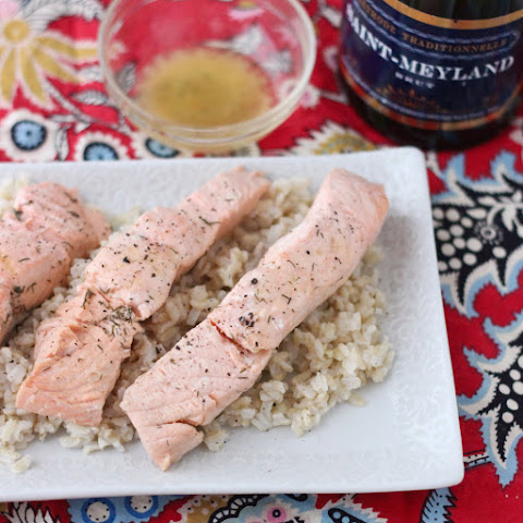 Lazy Girl's Champagne Poached Salmon