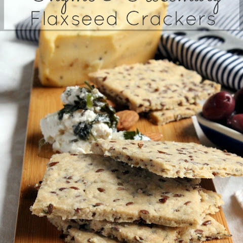 Thyme and Rosemary Flaxseed Crackers