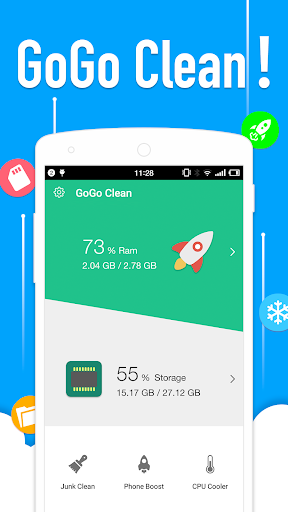GoGo Clean - Free Booster & Junk Cleaner For PC