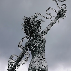 by Alan Reardon - Artistic Objects Other Objects ( menstrie, clouds, silver, bum, lady, grey )