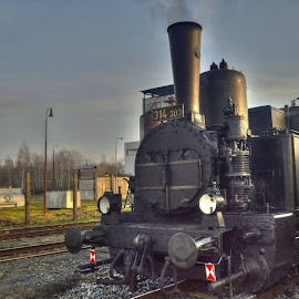 steam locomotive by František Valčík - Transportation Trains