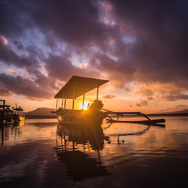 Rise of the Sun by Arie Sanjaya - Transportation Boats ( sunrise, sunset, boats, water, landscape )