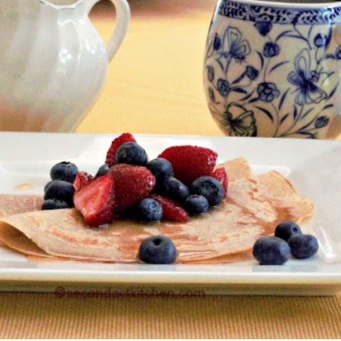 Breakfast? Whole Wheat Crepes with Fresh Berries