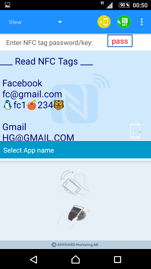 NFC Tools - myPasswordNFC Screenshot 3