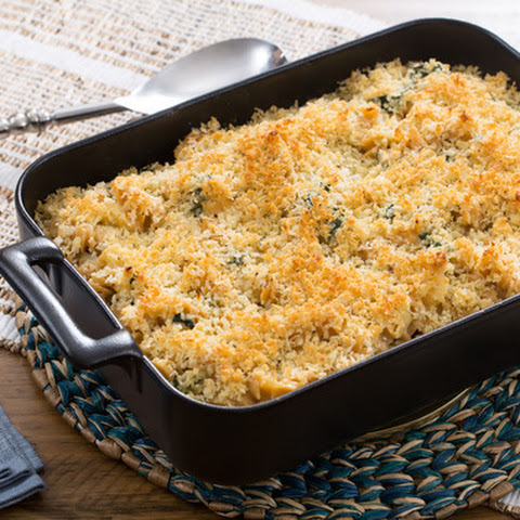 Roasted Cauliflower Mac & Cheese with Parmesan Breadcrumbs