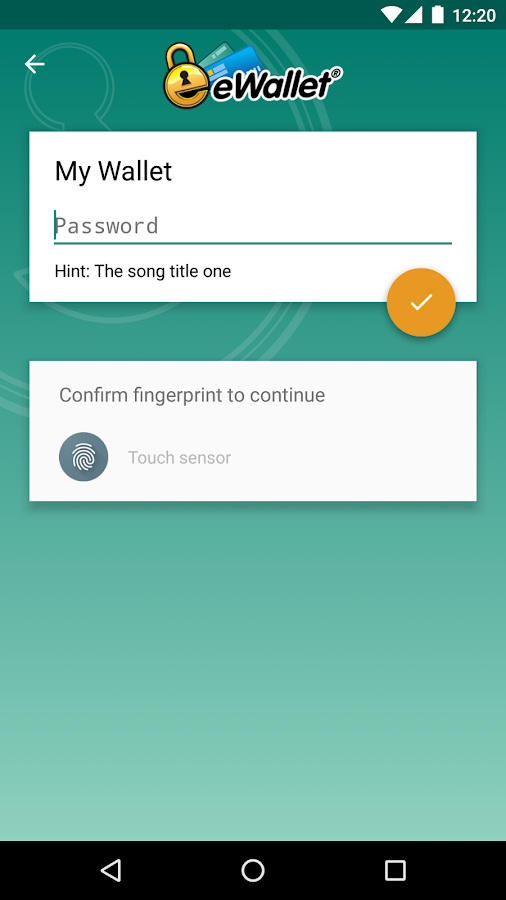 eWallet - Password Manager Screenshot 0