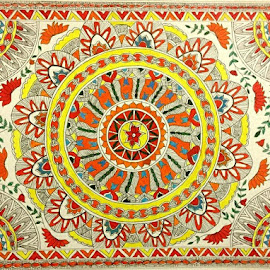 Madhubani painting - An ancient Indian traditional art form by Mili Shrivastava - Painting All Painting ( watercolor, ancient, ancient art form, madhubani )