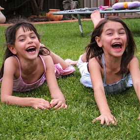 by Trevor Smart - Babies & Children Children Candids ( girls, wagga, laugh, both, australia,  )
