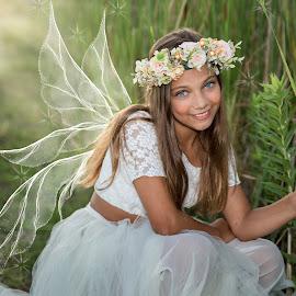 by Michele Dan - Babies & Children Child Portraits ( girl child, girl, beautiful eyes, fairy, fairytale )