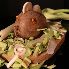 The Monsters by Liviu Nanu - Food & Drink Fruits & Vegetables ( leek, potato )