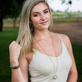 Courtney. by Gavin Smith - People Portraits of Women ( blonde, model, beauty, smile, portrait )