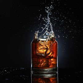 Splash by Maham Elahi - Food & Drink Alcohol & Drinks ( studio, product, lighting, splash, apple, drink, glass )