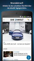 Screenshot of WELT News