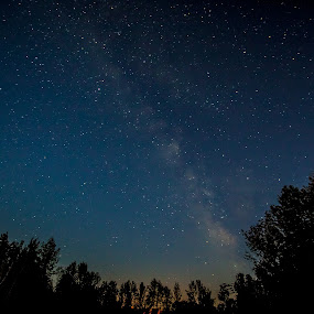 Peaceful Milky Way by Éric Senterre - Landscapes Starscapes ( nuit, sky, étoiles, stars, voie lactée, ciel, night, milky way )