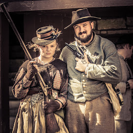 Defending Our Home by Kim Wilhite - People Couples ( history, reenactment, vintage, civil war, historical )