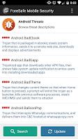 Screenshot of ForeSafe Mobile Security