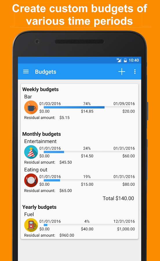 Fast Budget - Expense Manager Screenshot 4