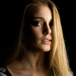 by Gawie van der Walt - People Portraits of Women ( #portrait #beauty #eyes #blond #woman #model #gorgeous,  )
