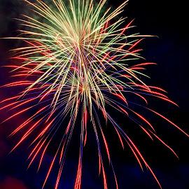July 4th by Scott Carver - Public Holidays July 4th ( firework, fireworks, july 4th, hoildays, motion blur,  )