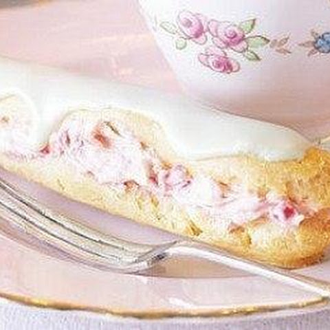 Eclairs With Raspberry Cream And White Chocolate