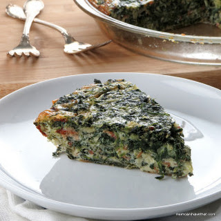 Spinach, Bacon & Onion Crustless Quiche