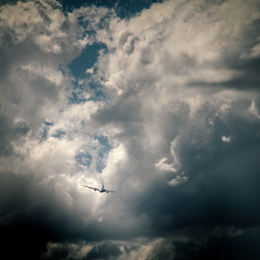 Fly away by Edi Libedinsky - Transportation Airplanes ( clouds, takeoff, sky, wings, airplane,  )