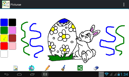Picturae - Easter coloring - screenshot