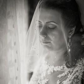 Waiting by Lucian Pirvu - Wedding Bride ( dress, wedding, white, bride, earring )
