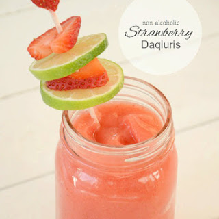 Non-Alcoholic Strawberry Daiquiris