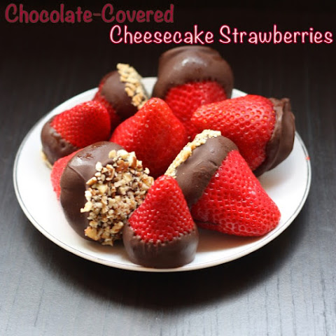Chocolate-Covered Cheesecake Strawberries