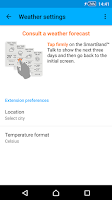 Screenshot of Weather smart extension