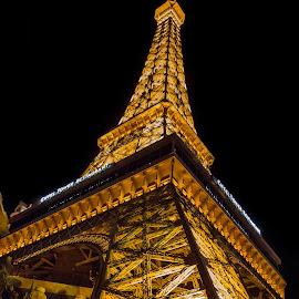 Paris in Las Vegas by John Williams - Buildings & Architecture Bridges & Suspended Structures ( las vegas, eiffel tower, paris, night photography, night lights )