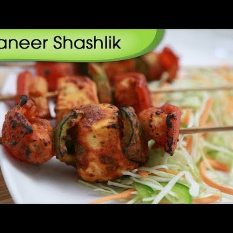 Paneer Shashlik – Grilled Spicy Cottage Cheese Recipe – Vegetarian Recipe By Ruchi Bharani