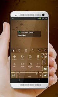 Coconut vision TouchPal Skin - screenshot
